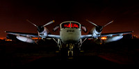 The RV-1 Mohawk at night
