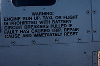 A-10 warning placard