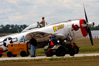 P-47 waiting to crank