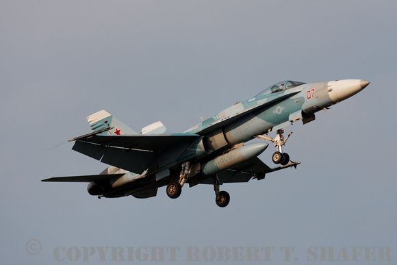 F/A-18 in aggressor paint