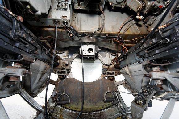 B 17 Ball Turret Interior   Gunners View